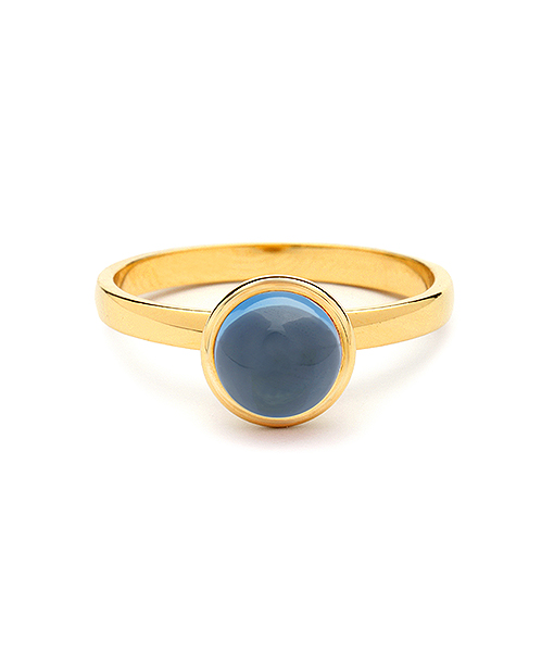 Syna Small Stacking Bauble Ring with London Blue Topaz