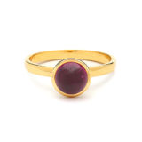 Syna Small Stacking Bauble Ring with Rubellite