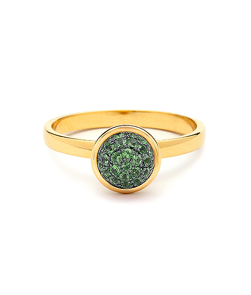 Syna Small Stacking Bauble Ring with Tsavorites