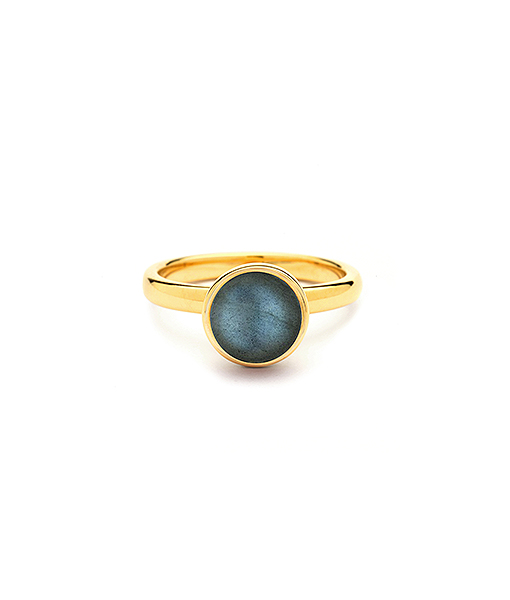 Syna Small Stacking Bauble Ring with Labradorite