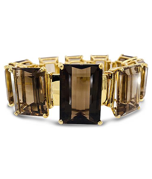 Tony Duquette Smoky Quartz Bracelet