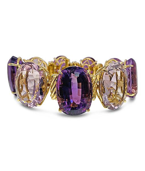 Tony Duquette Amethyst Bracelet