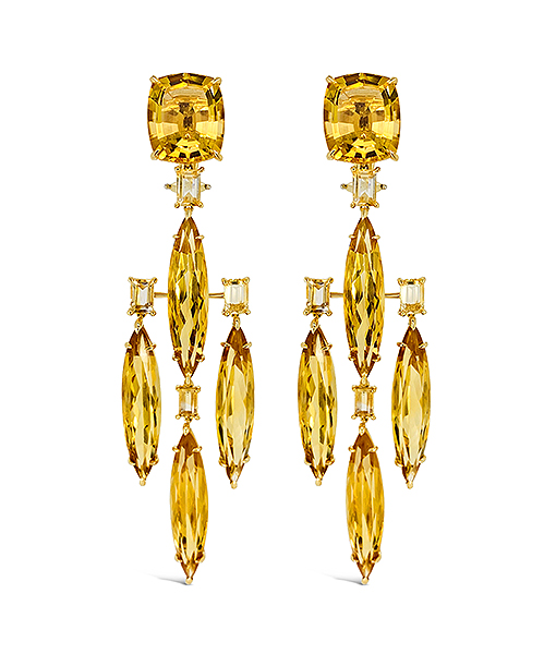 Tony Duquette Citrine Earrings