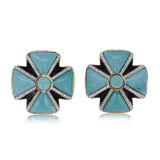 Tony Duquette Turquoise and Diamond Earrings