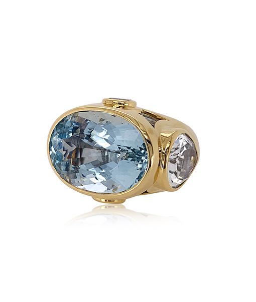 Tony Duquette Aquamarine Ring