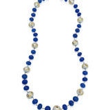 Tanzanite Bead and Pearl Necklace
