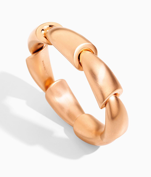 Vhernier Calla Satin Rose Gold Bracelet
