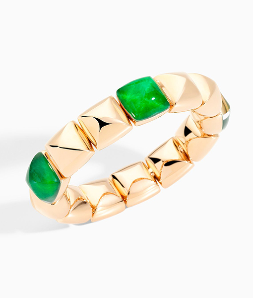Vhernier PanDi Zucchero Rock Crystal Jade Bracelet