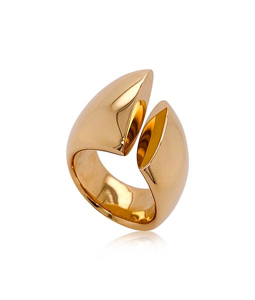 Vhernier Eclisse Medio Pink Gold Ring