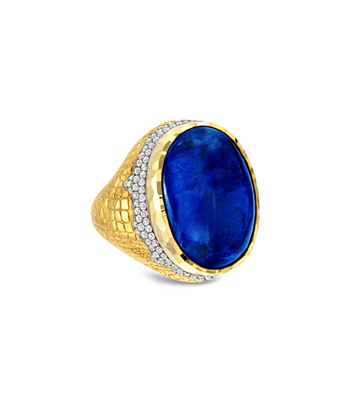 Victor Velyan Burmese Natural Sapphire Ring