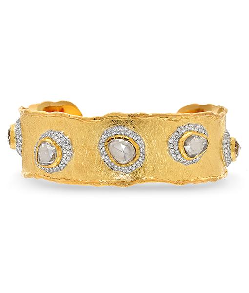 Victor Velyan White Sapphire and Diamond Bracelet