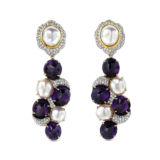 Victor Velyan Amethyst Diamond Earrings