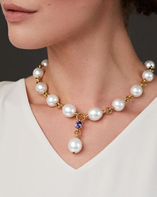 VERDURA Pearl Y Necklace