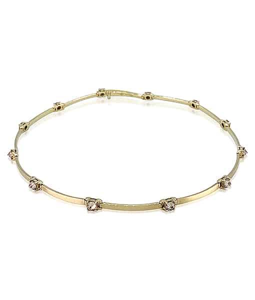 Ara Vartanian Brown and White Diamond Necklace