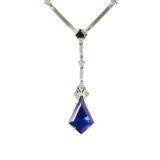 Ara Vartanian Tanzanite and Diamond Necklace