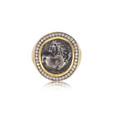 Jorge Adeler Lion Coin Ring Ancient Authentic