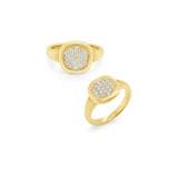 Kc Diamonds Pave Signet Ring