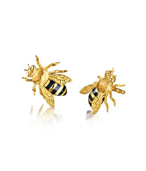 Verdura honeybee earrings
