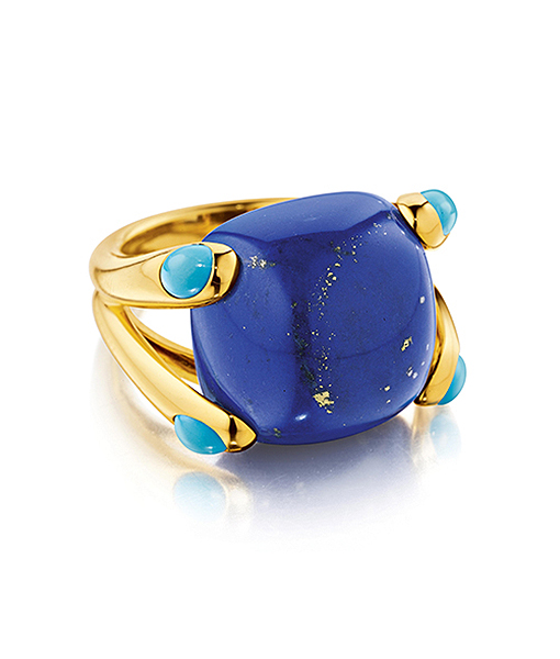 Verdura Candy Ring in Lapis and Turquoise